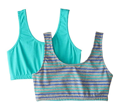Trimfit Girls' Crop Top with Built Up Straps (Pack of 2)