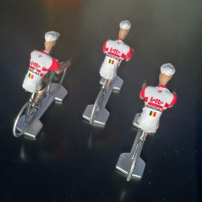 3 cyclistes miniatures Tour de france - Cycling figure - Lotto Soudal 2019