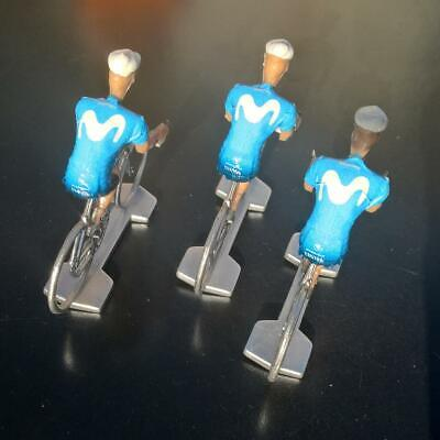 3 cyclistes miniatures Tour de france - Cycling figure - Movistar 2019