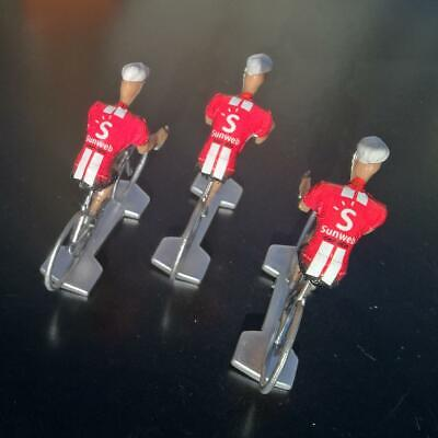 3 cyclistes miniatures Tour de france - Cycling figure - Team Sunweb 2019