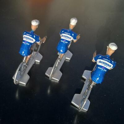 3 cyclistes miniatures Tour de france - Cycling figure - Deceuninck Quick.Step 2