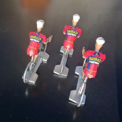 3 cyclistes miniatures Tour de france - Cycling figure - Bahrain Merida 2019