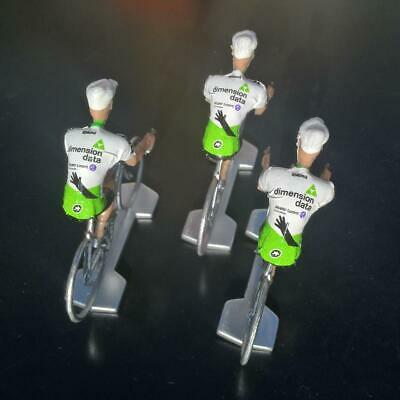 3 cyclistes miniatures Tour de france - Cycling figure - Dimension Data 2019