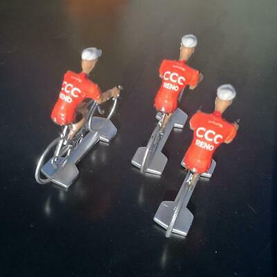 3 cyclistes miniatures Tour de france - Cycling figure - Team CCC