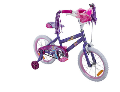 40cm Kids Bike Bicycle Girls Trailer Training Wheels with princess basket