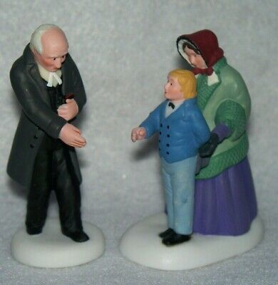 """Reverend/"""" Set of 2 New Dept 56 New England Village Accessories /""""Good Day"""