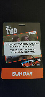 New York Comic Con NYCC 2019 SUNDAY Adult Ticket CONFIRMED & Activated 10/06/19