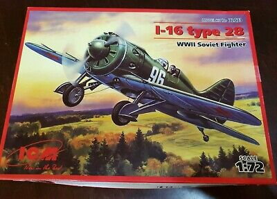 WWII Soviet Fighter ICM 48098 1//48 I-16 type 28