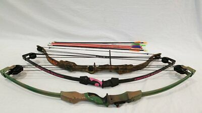 Lot 3 Youth Archery Compound Bows w/ Arrows
