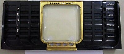 Zenith TransOceanic 8G005YTZ1 (1948-49) SW Tube Radio FRONT PANEL ONLY For Parts