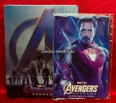 Avengers: Endgame 3D/Blu-ray Steelbook * Spain Import * Region  Free + Art Cards