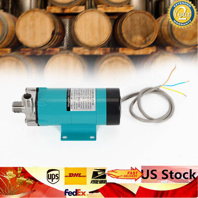 New Fully Sealed Magnetic Brewing Beer Pump 10W 19 LPM+Stainless Steel Head US