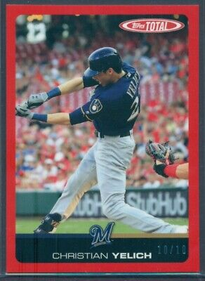 2019 Topps Total Wave 6 Red Border Parallel Christian Yelich #501A 10/10