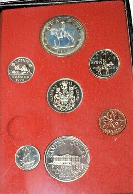 1973 Royal Canadian Mint Proof Set Coins Double Dollar Coin Uncirculated Canada