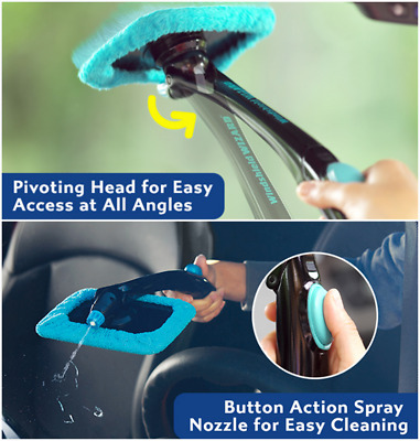 Hurricane Windshield Wizard Car Window Cleaner Kit - Windscreen Glass Reusable K