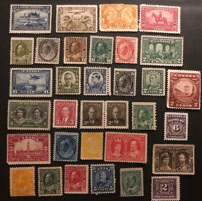 Canada Massive Cat Value Unused No Gum Lot - Mint NG? - Stamp Collection Lot #3