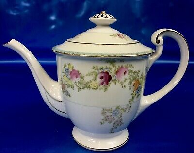 Vintage Craftsman China Teapot Rose and Flower Pattern Made in Japan