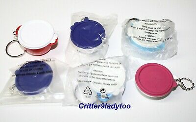 Tupperware Lot of 6 Thatsa Bowl Keychains Different Colors