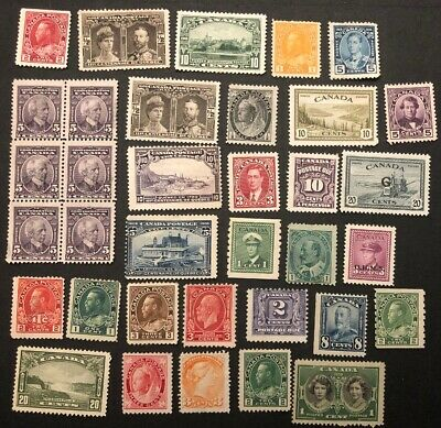 Canada Massive Cat Value Unused No Gum Lot - Mint NG? - Stamp Collection Lot #6