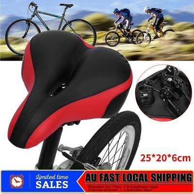 Mountain Bike Bicycle Saddle Spring Seat Soft Gel Padded Cushion Cover Outdoor