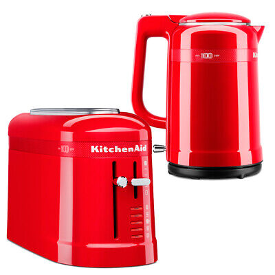 NEW KitchenAid 100 Year Queen Of Hearts Kettle & Toaster Set