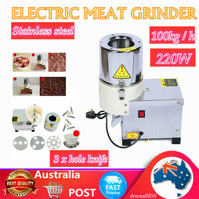 Commercial Meat Grinder Electric Mincer Sausage Filler Maker 100kg/h + AU SHIP