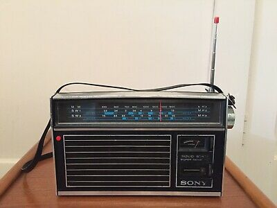 Vintage Sony Solid State MW/SW/SW1 - 8-Transistor 3-Band Radio - WORKING