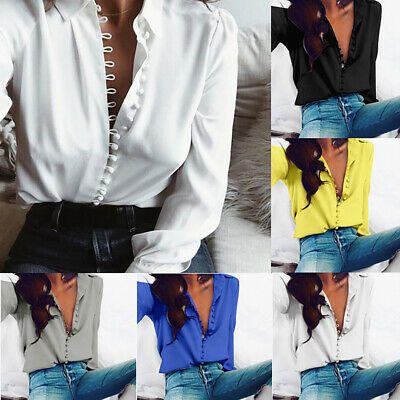 Women Lightning Pattern Long Sleeve Blouse Lady Shirt Casual Buttons Lapel Chic