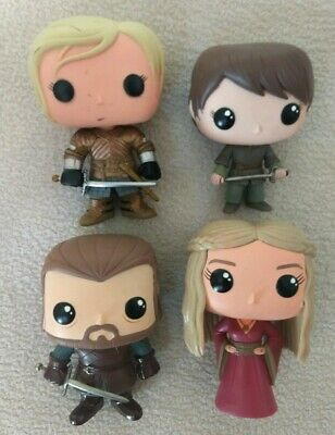 Funko Pop Lot Game Of Thrones, Ned, Arya, Cersei Red, Brienne Tarth customized