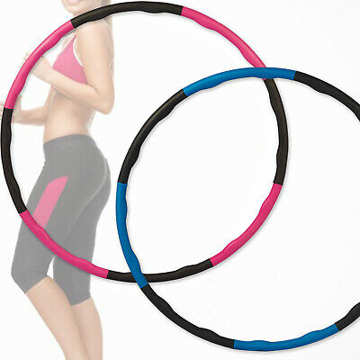 Collapsible Weighted Hula Hoop Foam Padded Fitness Exercise Exercise Gym Workout
