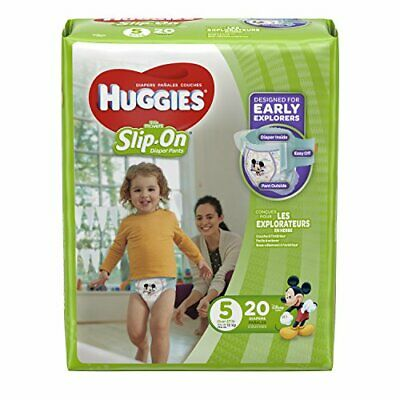 HUGGIES Little Movers Slip On Diaper Pants, Size 5, 20 Count, JUMBO PACK (Packag