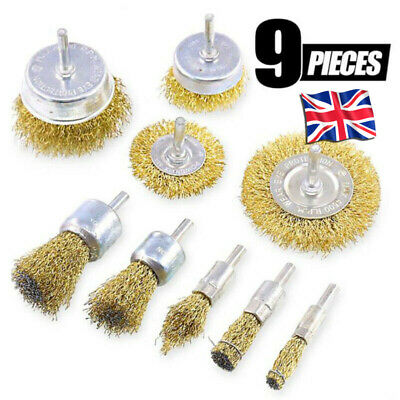 3 Piece Wire Cut Brush Set 6MM Shank For Use Power Tools Frmovel Rust Dirt Metal