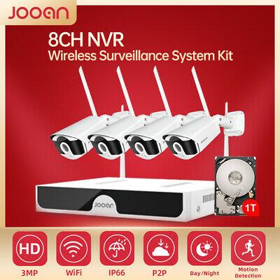 JOOAN HD 1080P Wireless CCTV Home Security System 8CH DVR Outdoor IP WiFi Camera
