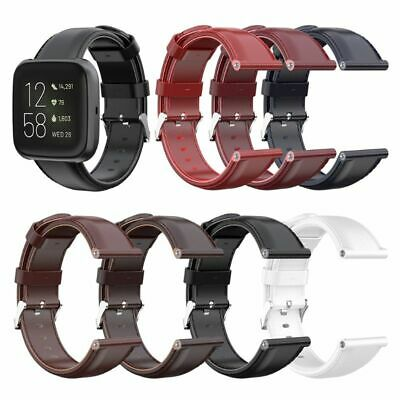Leather Replacement Sport Bracelet Band Watch Strap for Fitbit Versa/Versa2/Lite