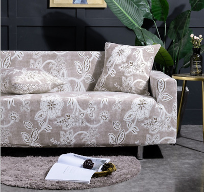 Easy Fit Sofa Couch Slipcover Stretch Protector 1-4 Seater Cover floral Hot sale