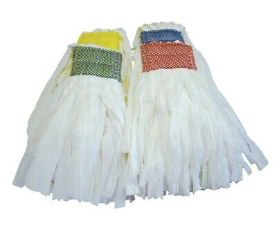 Big White 250g Kentucky Mop Head Colour Coded Semi Disposable Floor Cleaning