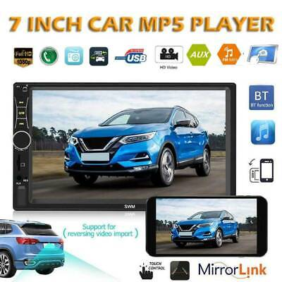 7 inch HD 2 DIN Car Stereo Touch Screen Bluetooth MP5 Player AUX U Disk Radio