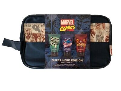 Marvel Comics Superhero Toiletries & Wash Bag Gift Set 3 x 50ml