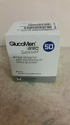 Glucomen Areo Blood Glucose Diabetic Test Strips/Sensors 50 EXP - 2020