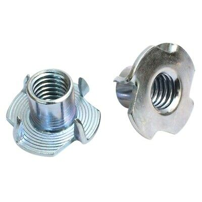 2X(3/8 Inch-12 T-Nuts 100Pc Pronged Tee Nut. For Wood, Rock Climbing Holds,Y4Q1)