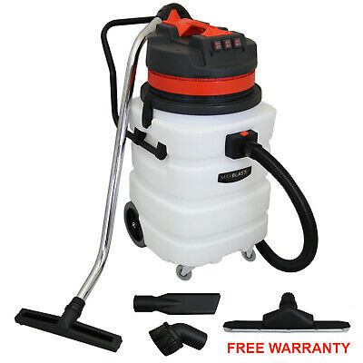 90L Industrial Vacuum Cleaner Wet Dry Floor Track Nozzle Commercial Clean 3000W