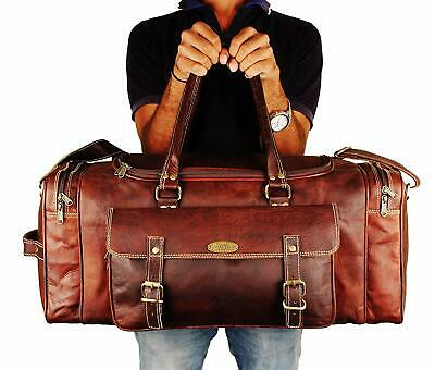 Leather Duffle Bag Women Carry On Travel Holdall Bag 24 Inches Overnight Weekend