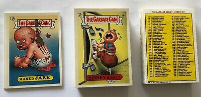 Garbage Pail Kids Garbage Gang 91 Complete Variant Sticker Set Excellent Topps