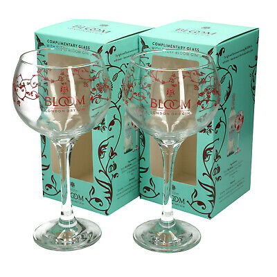 2 x Bloom London Gin Glass. Limited Edition