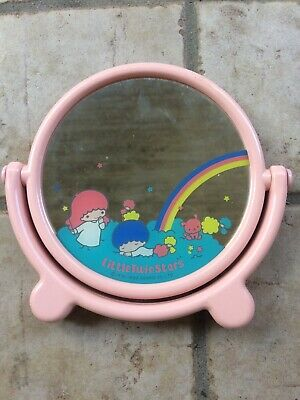 Little Twin Stars vintage 1983 Sanrio round shaped mirror Made Japan Hello Kitty