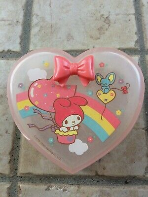 My Melody Sanrio vintage 1986 heart shaped box made in Japan - Hello Kitty