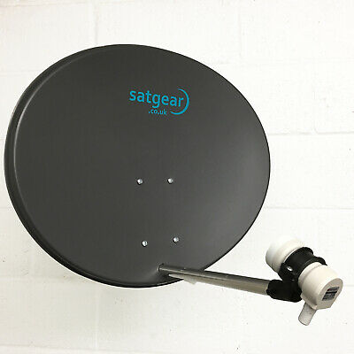 Quad LNB and Satfinder Designed For a Multi Room Installation Satgear 60cm Zone 2 Satellite Dish kit inc 10m of Twin Cable