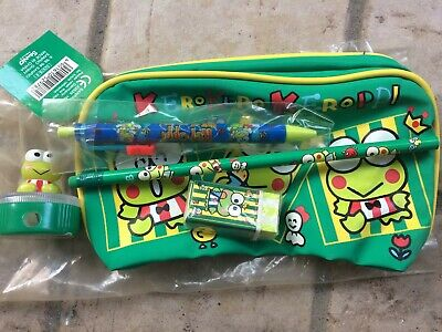 Keroppi Kerokero vintage Sanrio 1998 stationary set Hello Kitty My Melody