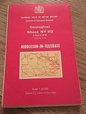 Middleton In Teeside Institute Geological Sciences Geological Sheet Ny82