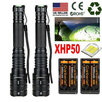 900000Lumens Zoomable XHP50 5 Modes LED 18650 Flashlight Torch Powerful Light US